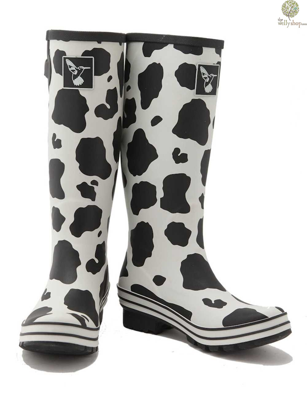 evercreatures cow print wellington boots