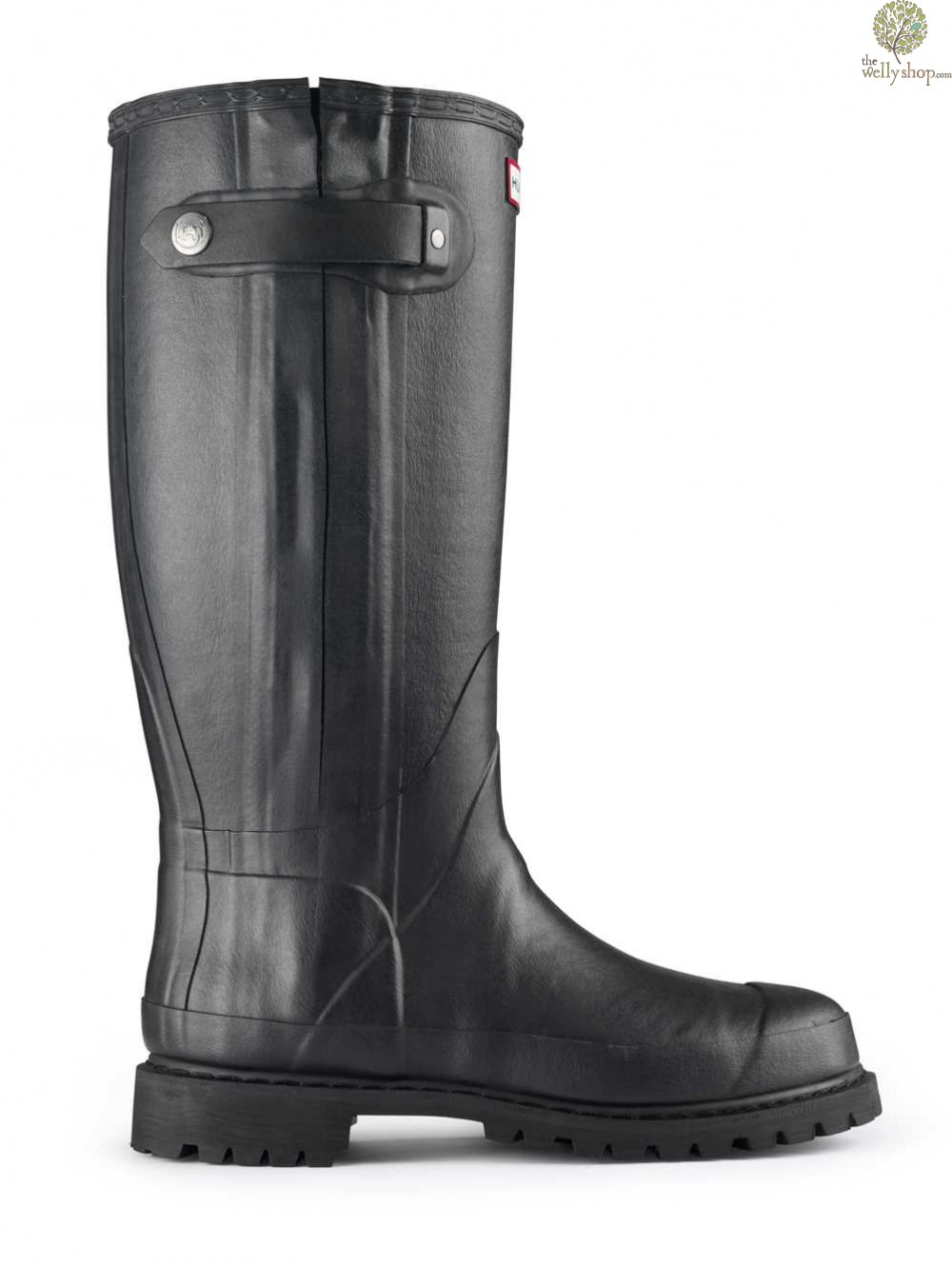 Hunter Balmoral Sovereign Rubber Boots With Leather Lining