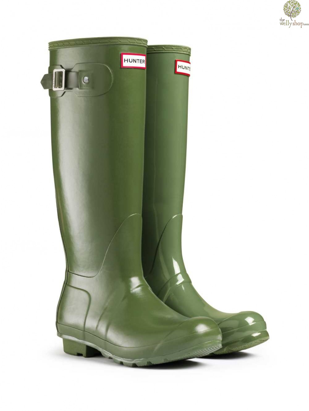 Hunter Original Tall Leather Lined Vintage Green