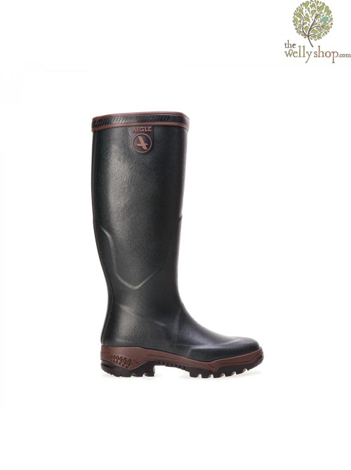 Aigle Parcours 2 Pro - The Walking Welly (Dark Green/Walnut)