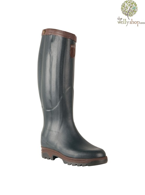 Aigle Parcours Prestige Zipped Walking Wellingtons Dark Green