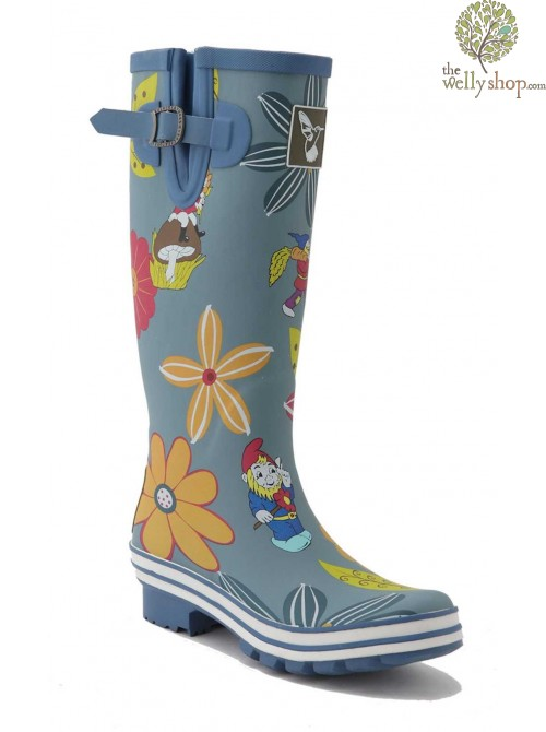 EVERCREATURES GNOME AND DAHLIA BLUE WELLINGTON BOOTS