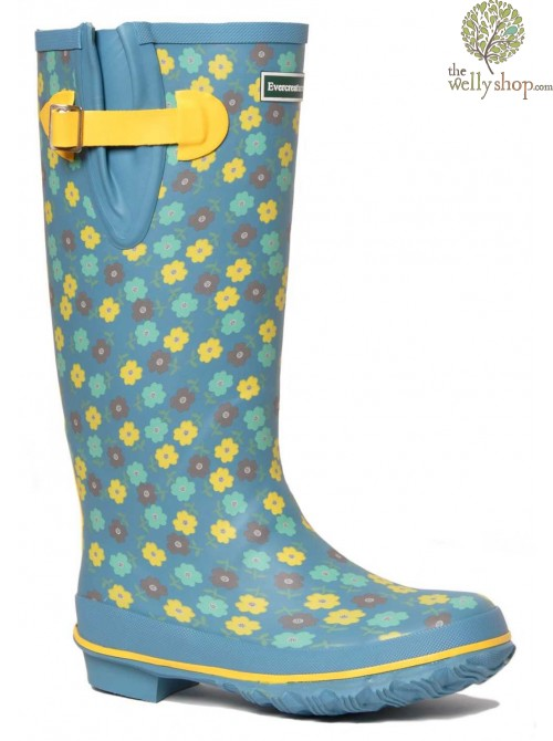 EVERCREATURES FLORAL BLUE AND YELLOW
