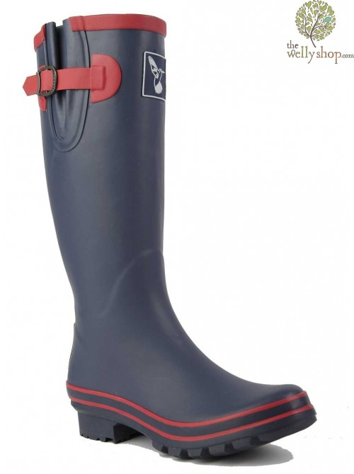 EVERCREATURES NAVY WITH RASPBERRY TRIM WELLINGTON BOOTS