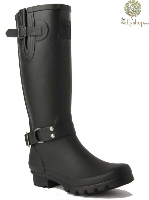EVERCREATURES LUXE TRIUMPH BLACK WELLINGTON BOOTS
