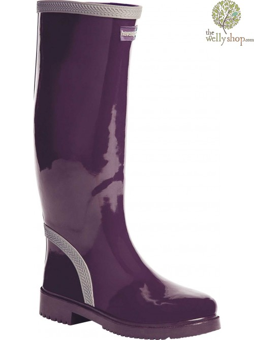 HAVAIANAS TALL LADIES BOOTS AUBERGINE GREY (AVAILABLE IN UK SIZES EU36 - EU42)