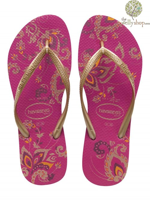 HAVAIANAS SLIM SEASON FLIP FLOPS (AVAILABLE IN UK SIZES EU35/36 - EU39/40)