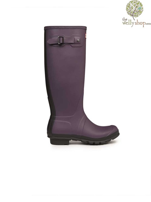 Hunter Tall Original Two Tone Dark Plum Wellington Boots