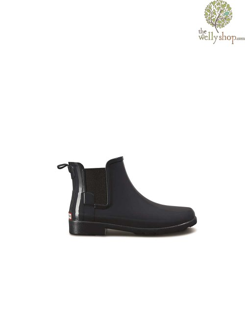Hunter Women's Original Refined Gloss Dark Slate Chelsea Boots