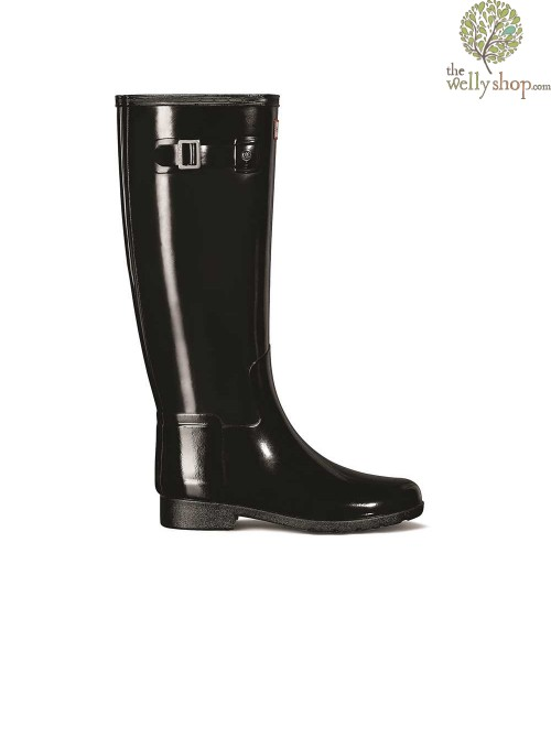 Hunter Women's Original Refined Gloss Black Wellington Boots