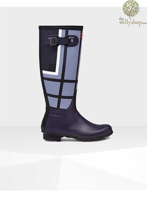 Hunter Original Tall Women's Tartan Wellington Boots