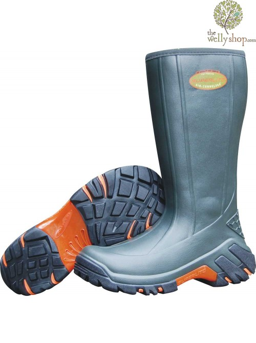 Superlite Stream High Wellies - Moss Green