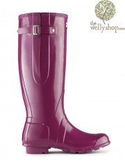 Hunter Original Tall Adjustable Calf Gloss Wellington Boots - Side Adjustable