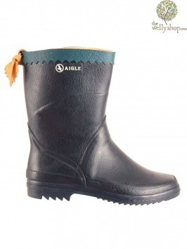 Aigle Bison Navy Ankle Wellingtons