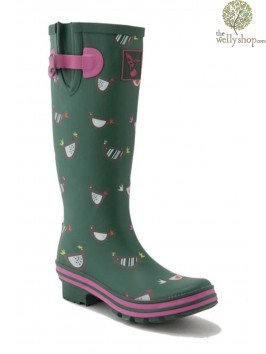 Chicken Print Wellies