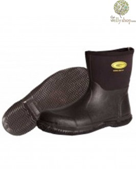 Grubs Field Low Black Neoprene Boots