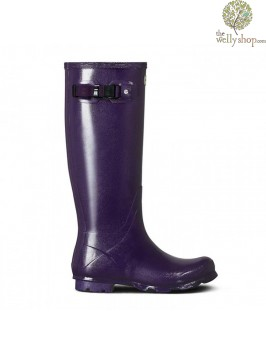 Hunter Women's Norris Field Gloss Dark Iris Wellington Boots