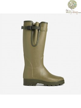 Le Chameau Vierzonord Adjustable Calf Rubber Boot Double Density Rubber Sole Warm 3mm neoprene-lined comfortable to -15C