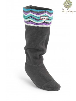 Hunter Welly Warmers Zig Zag Patterned Socks