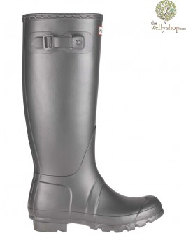 Hunter Tall Original Metallic Pewter Effect Wellington Boots