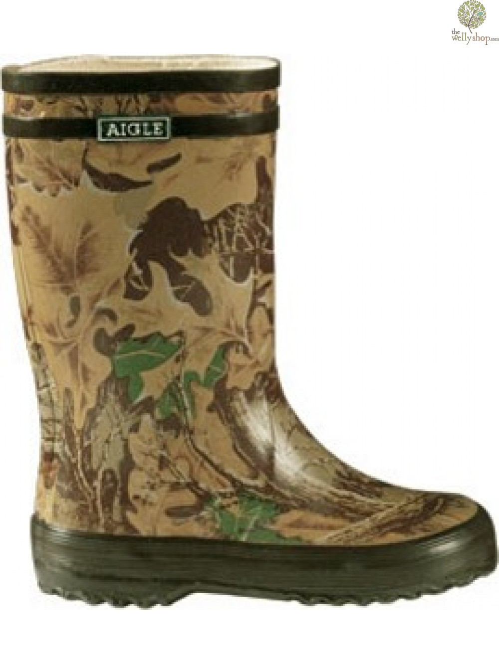 68a22894b ... Aigle Lollypop Childrens Wellies - Camouflage. Aigle ...