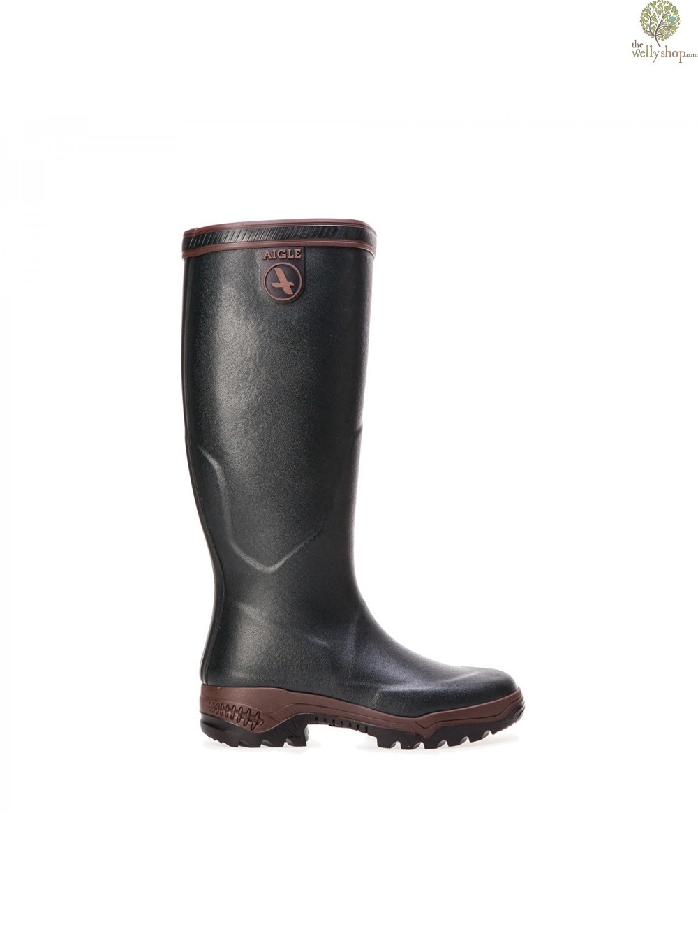 Aigle Parcours 2 Pro The Walking Welly Dark Green Walnut