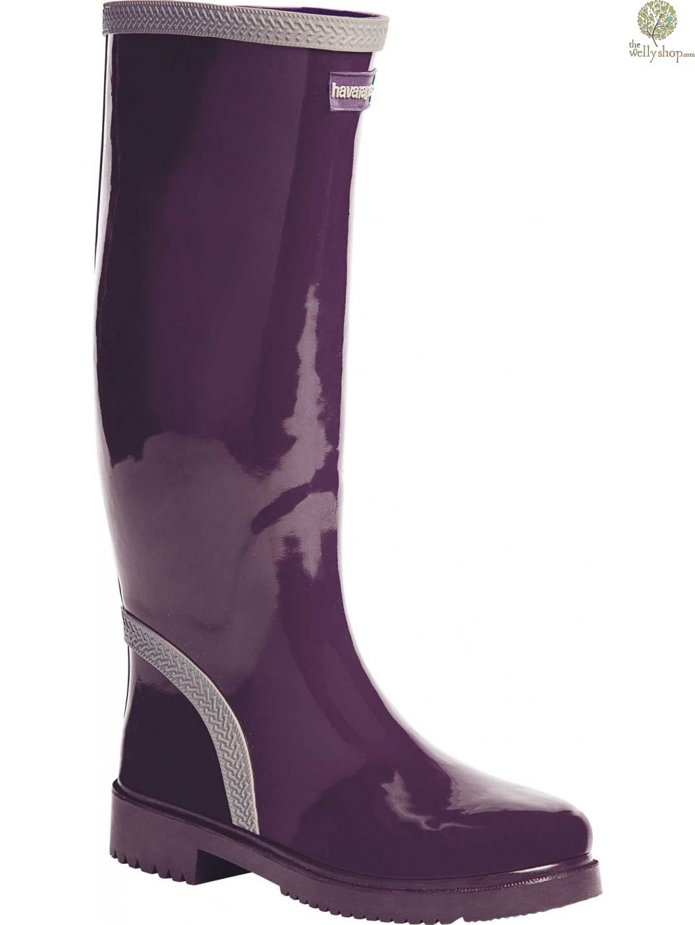 Havaianas Tall Ladies Boots Aubergine Grey Available In