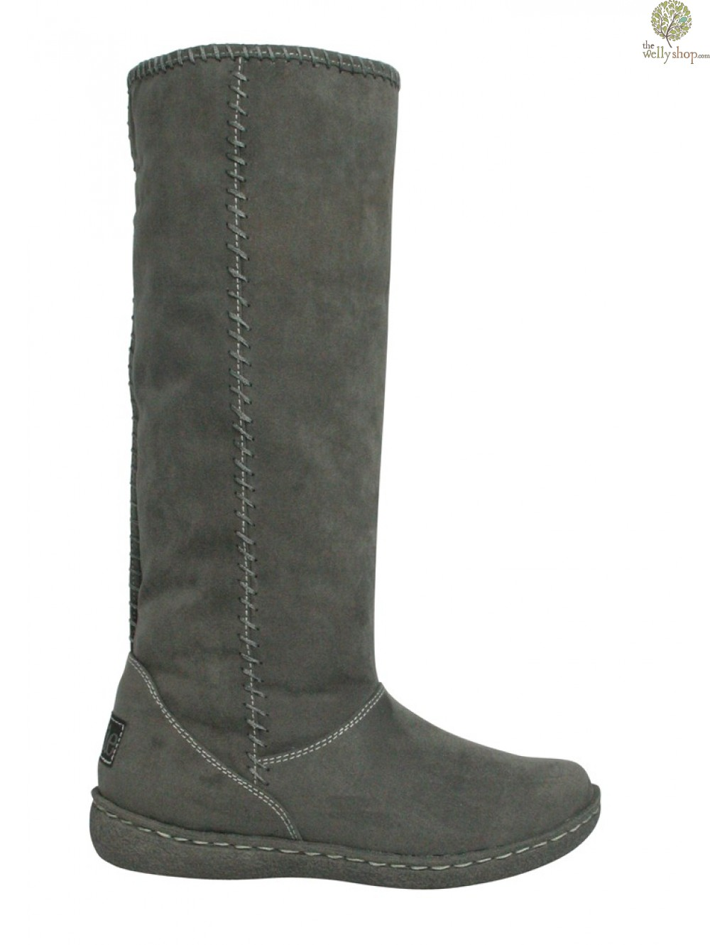 9743dd4c0 ... Pixie Holly Boots Grey Full Side Profile View